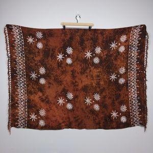 Boho Sun and Star Blanket Shawl Wrap